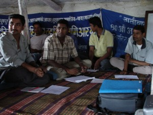 At a workshop: local NGO leaders