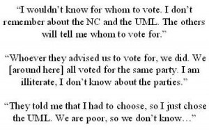 What's the difference between NC and UML: examples of voter comments