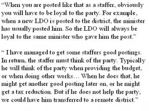 Political obligations of posted staffers: Chief Officer and local politician explain