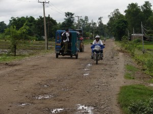 On the bike: it can be a long way to Kathmandu