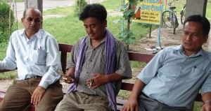 Still waiting for the LBRC and the first local election since 1997: local politicians, here in Chitwan.