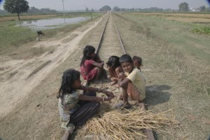 Along the railway track: meeting the locals