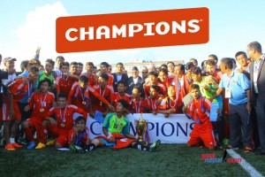 What a final: U-19 soccer team with their trophy