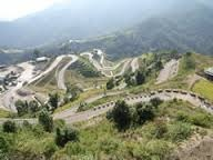 Road cutting through farm land: every ropani counts