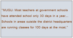 Teacher absenteeism is high: case of Mugu district (Himalayan Times, 19.12.13)