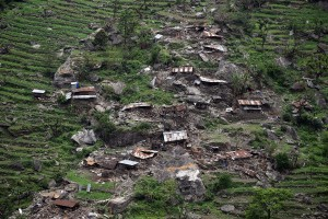 Villag in Gorkha: one of hundreds others in the worst-hit districts