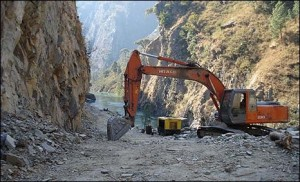 Chinese-funded road works from the border, south: upgrading the old trade routes
