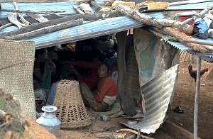 Emergency grant before the rain starts: 15,000 rs. to build proper temporary shelter