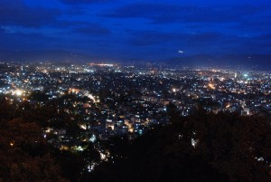 Urbanisation stands out at night: Kathmandu Valley make up almost 25 pct. of the national economy