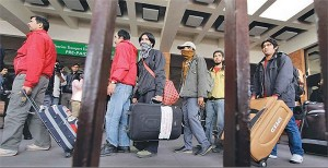 Remittance incomes allow more rural families to migrate to city and towns: migrant workers on their way
