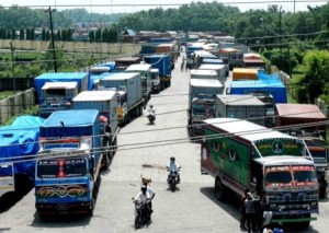 Trucks stranded at Birgunj border point on Delhi's orders officially due to the continuing unrest over the constitution: will local elections be stranded too?
