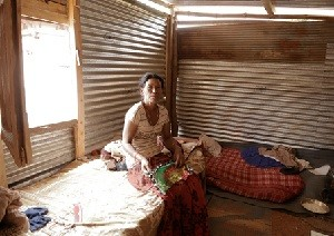 Still waiting for government support to rebuild: inside a typical shelter, unfit for winter