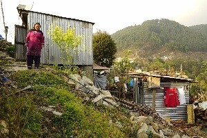 """Tin shelters seem to be the wrong choice as they are not at all good especially for the winter season."" Ramji Shrestha."