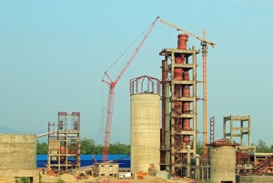 Cement hub about to grow bigger: another cement factory under construction in Nawalparasi (central Terai)
