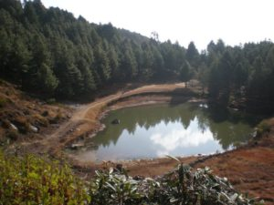 Scenery from a hiking trail going up from Charikot