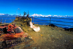 View from the temple at Kalinchok ridge: a popular trek in the area around Charikot