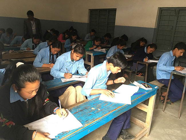SEE school exam Nepal